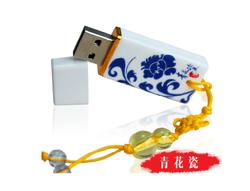 陶瓷青花瓷u盘定制