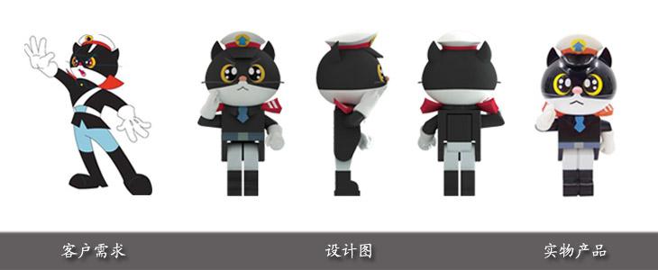 黑猫警长塑胶u盘开模定制