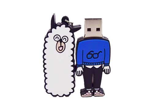羊驼卡通PVCU盘定制