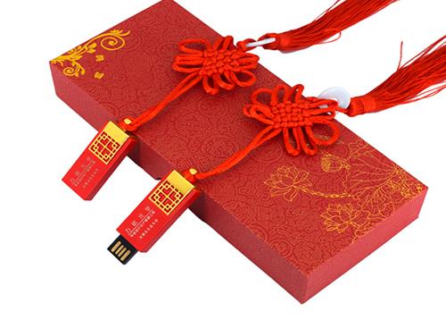 【u盘生产厂家 】u盘定制图案中国结 古典u盘成为中国风一道靓丽风景线