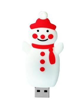 山西小区人工造雪,怎么少得了斯乐克定制u盘圣诞雪人u盘
